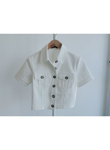 Pat Button up Top