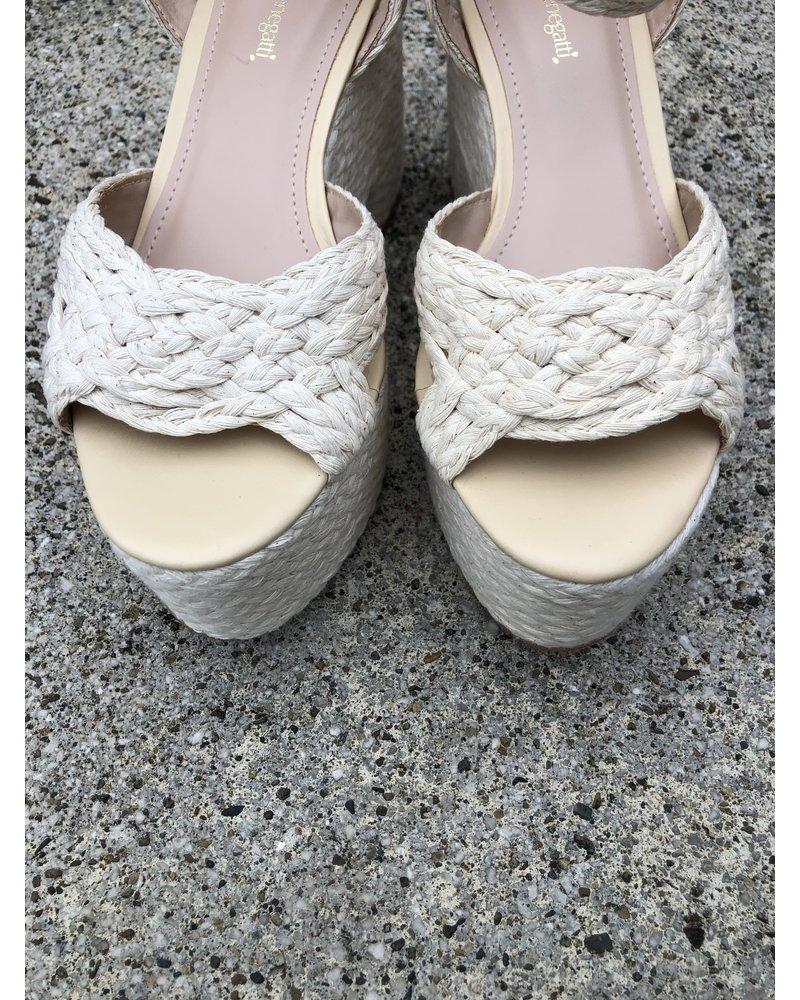 Platform Sandal Braided Cotton