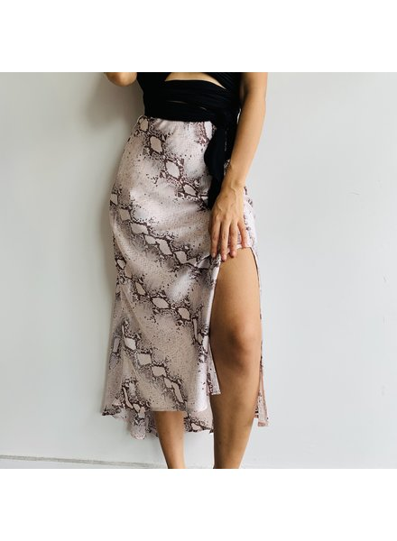Snake Printed Pencil Skirt
