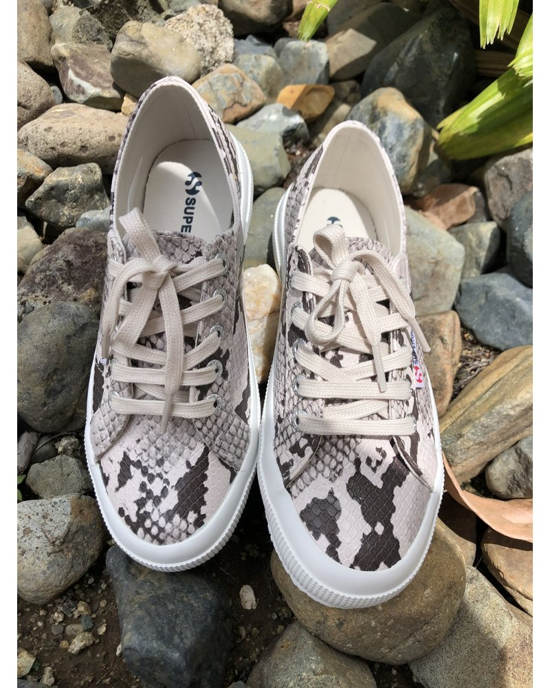 Snake Taupe Sneakers