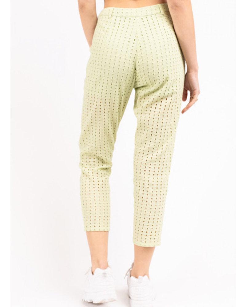 Eyelet Slim Fit Pants w Short Lining