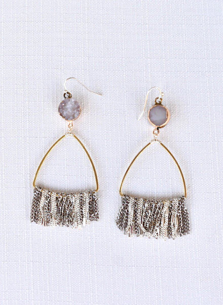 Gold & Stone Earrings