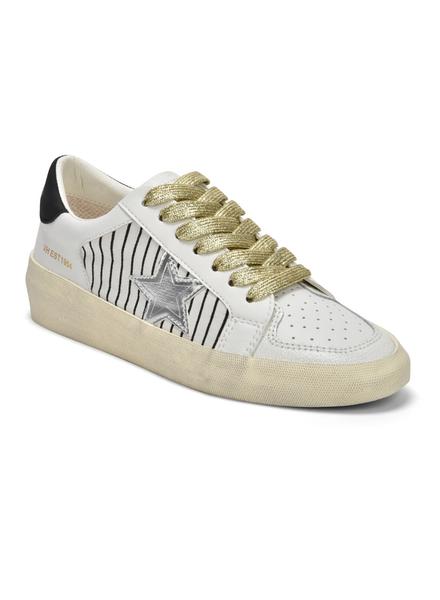Silver Metallic Stripe Sneaker