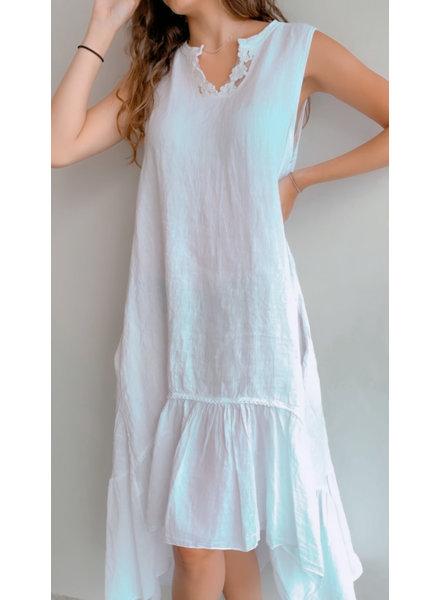Hi - Lo Linen Dress