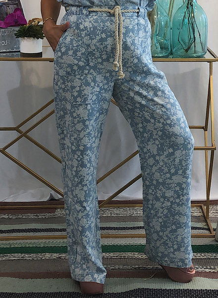 Woven Floral Trouser Pants