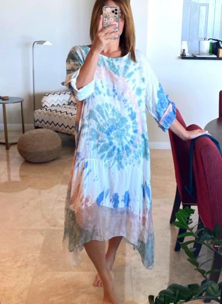 Oversize Dye Linen Dress