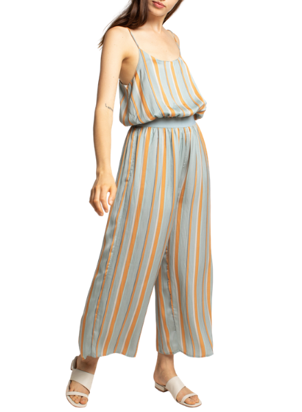 Stripe Satin Jumpsuit