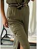 Short Sleeve Waist Cinched Jumpsuit