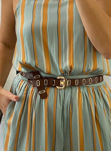 Grommet Brown Belt