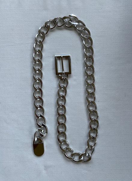 Chunky Chain Belt/Silver