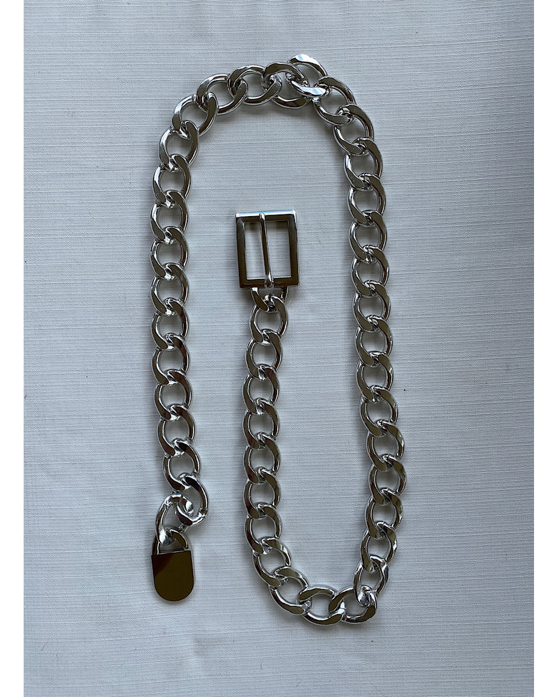 Chunky Chain Belt/Silver
