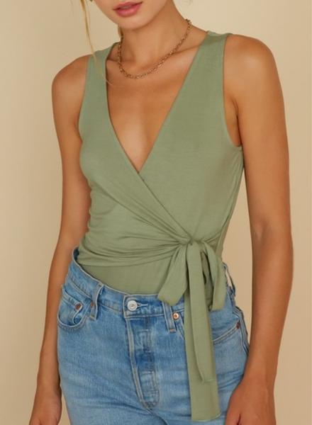 Wrap Sleeveless Bodysuit