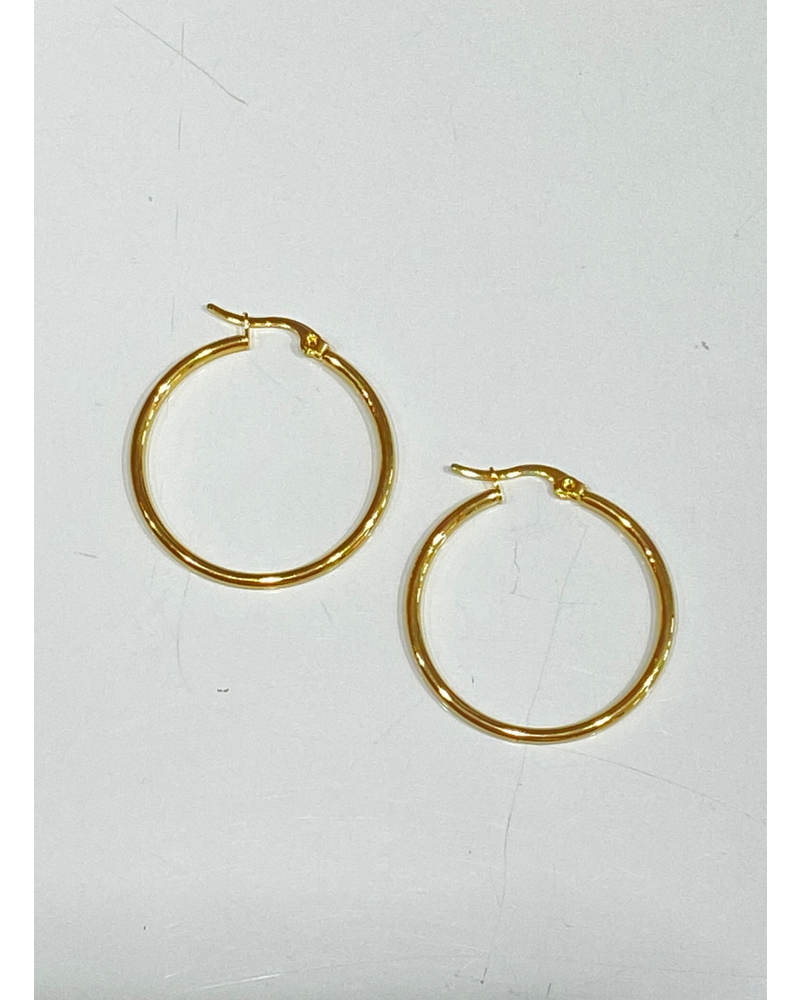 Small Thin Hoop Earrings