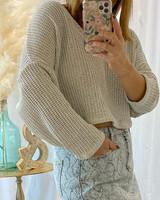 V Neck Light Knit Sweater