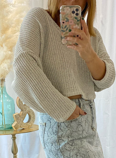 V Neck Light Knit Sweater