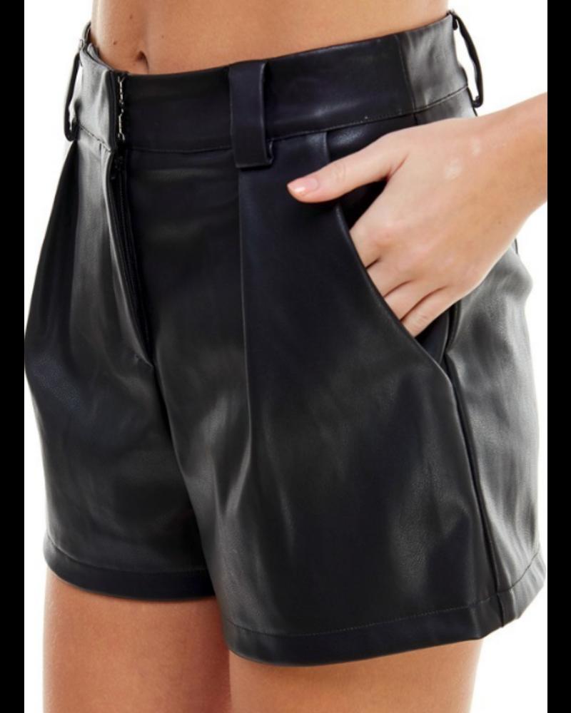 Faux Leather Short Pants