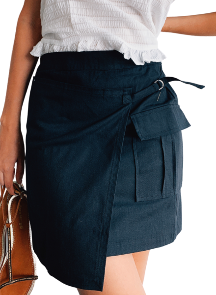 Black Asymetric Skirt