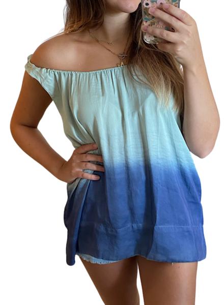 Ombre Round Neck Top