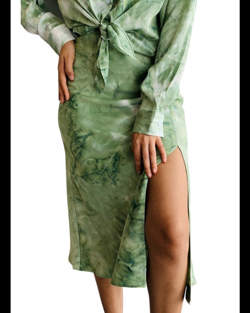 Kira Tie Dye Bias Skirt