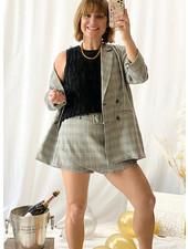 Plaid Blazer + Skirt Set