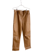 Faux Leather Pants With Pockets
