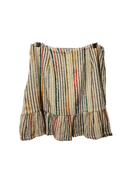 Embroidered Knit Fluttery Skirt