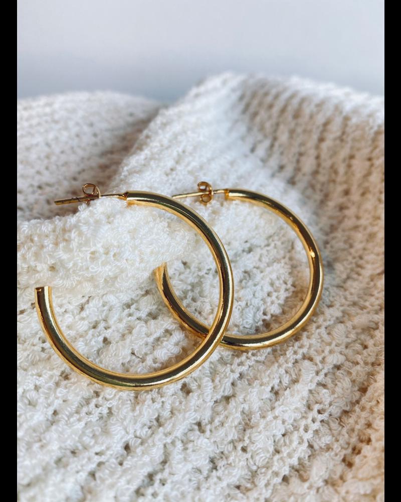 Thick Hoops Earrings