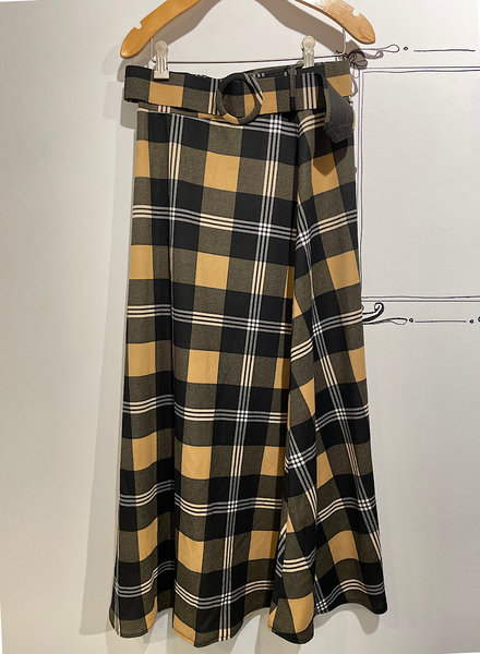 Plaid Line A Long Skirt