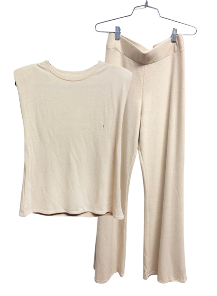 Set Long Pant w/Sleeveless Top Shoulder Pad
