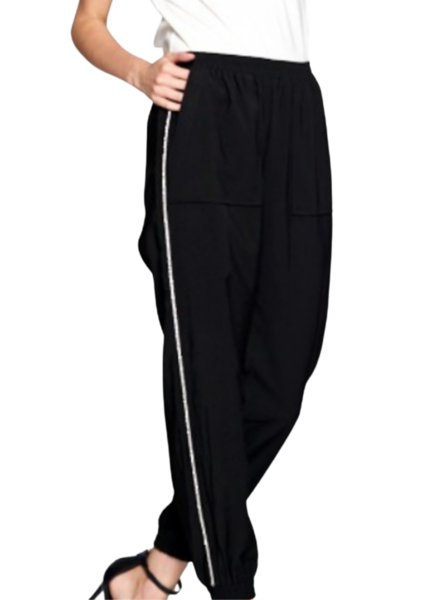 Jogger with Studs Trim