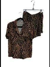 Jovie Zebra Printed PJ Set