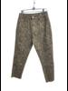 Fade Snake Print Washed Denim Pants