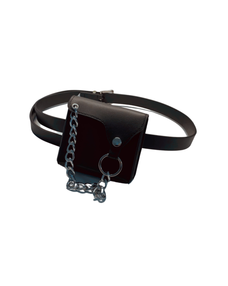 Silver Chain Belt Bag