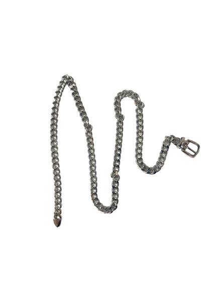 Cuban Silver Chain Belt