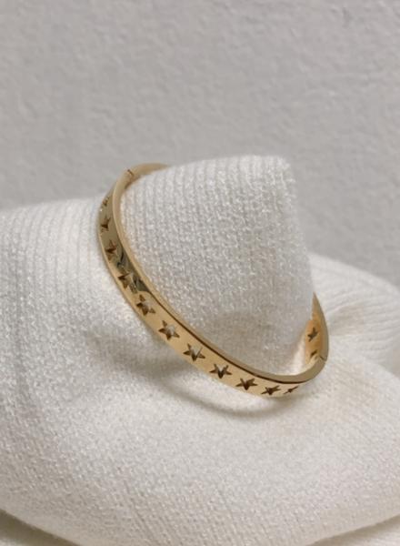 Star Gold Cuff Bracelet