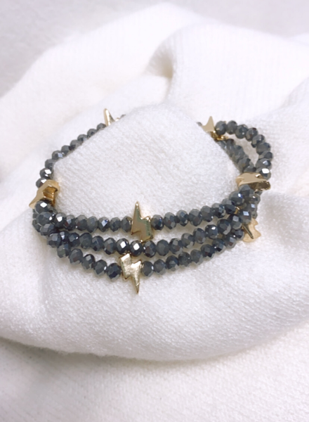Gray Gold Lightning Multi Bracelet