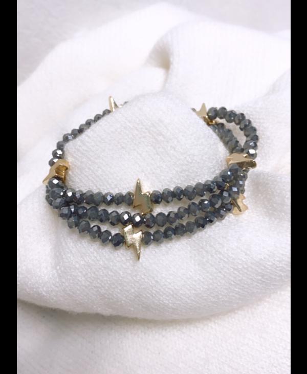 Gray Gold Lightning Multi Bracelet