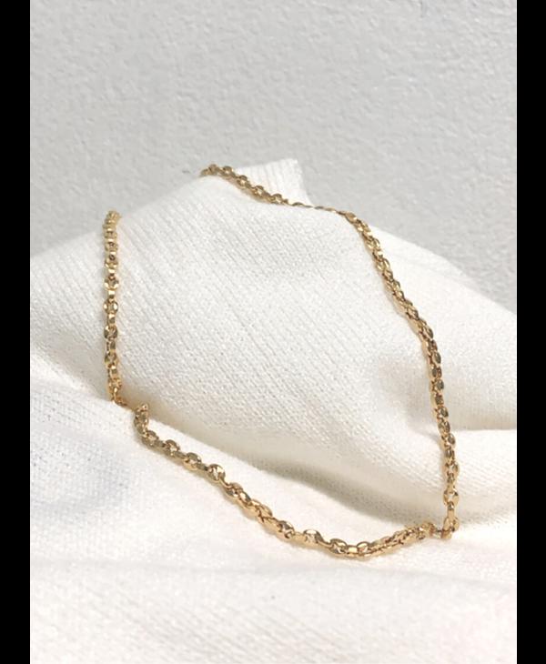 Cadena Steel Gold Gucci Puff Mini Link