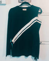 Knit Color Block Long Sleeve Top