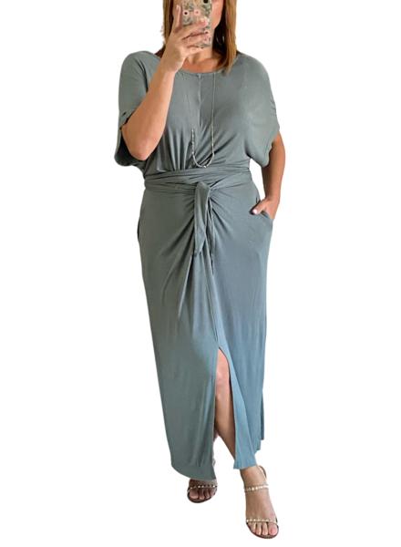 Waist Tie Jersey Dress