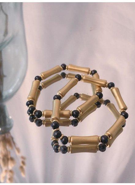 Elastic Gold/Black Bracelet