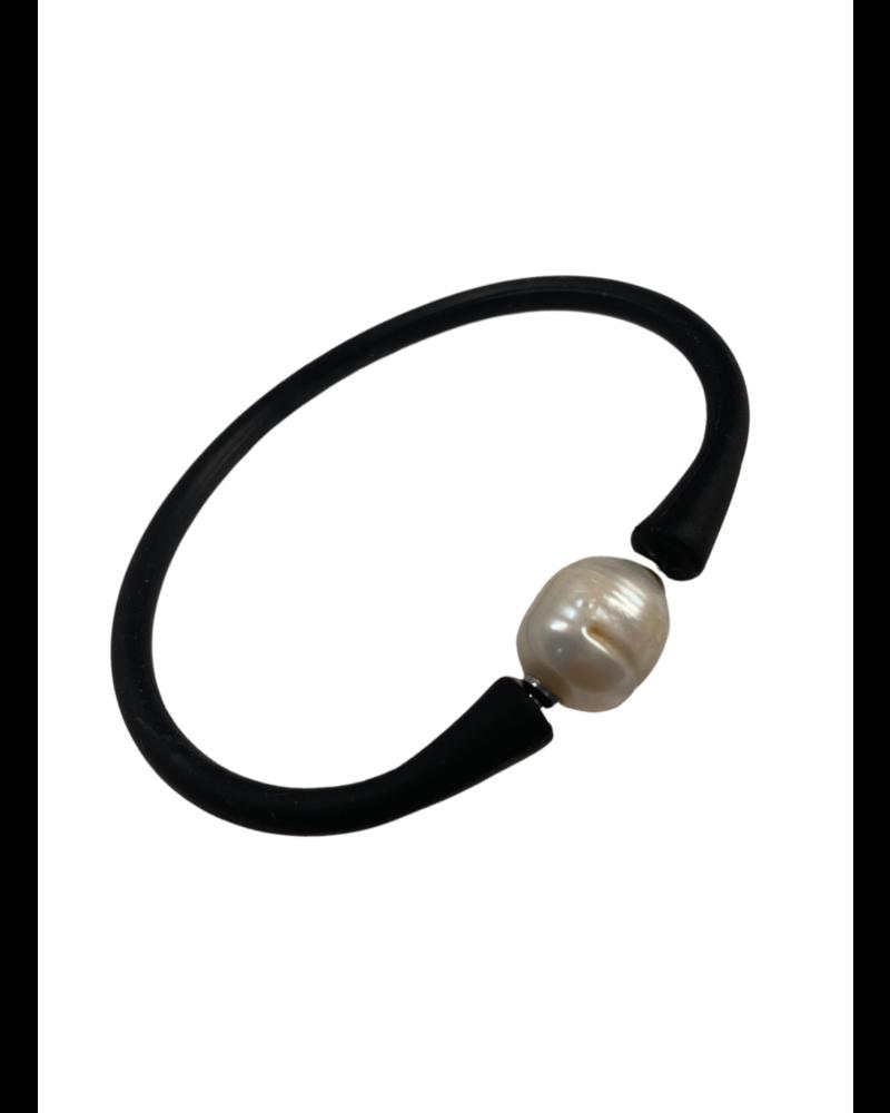 Bali Freshwater Pearl Silicone / Black
