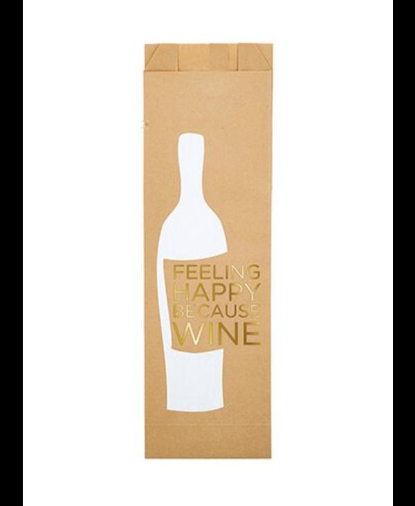 Feeling Happy Because Wine | Paper Wine Bags