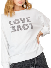 "Off Shoulder ""Love"" Graphic Top"