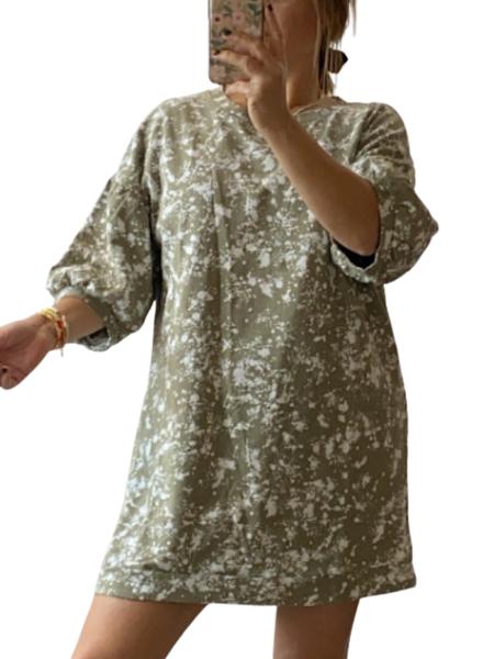 Splatter Paint Terry Dress