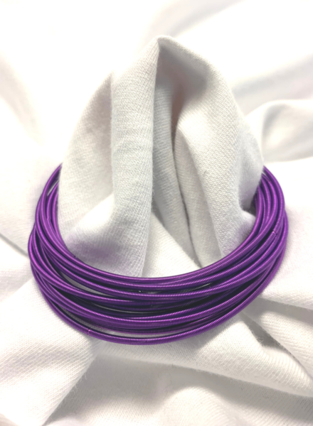 Wire Bracelets Purple