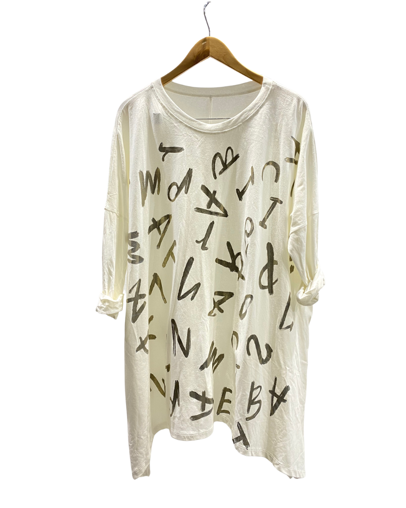 Letters Oversize Top - One Size