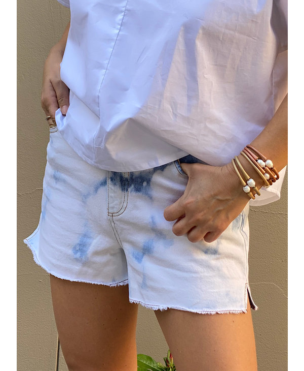 Bleached Frayed Hem Shorts