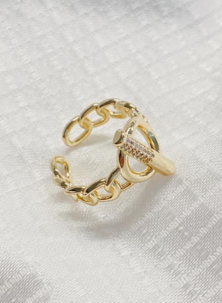 Chain Circle W/Bar Ring
