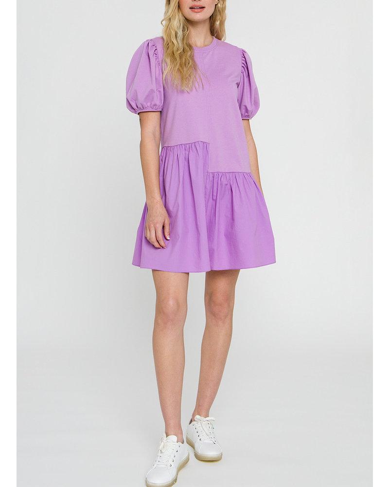Knit Woven Mixed Dress